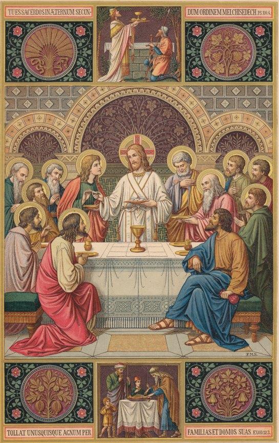 Das Abendmahlbild aus dem Missale Romanum (Altarbuch 1926)