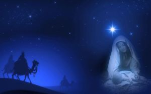 Die Geburt Jesu mitten in der Nacht