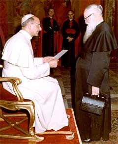 Pater Josef Kentenich in Audienz bei Papst Paul VI.
