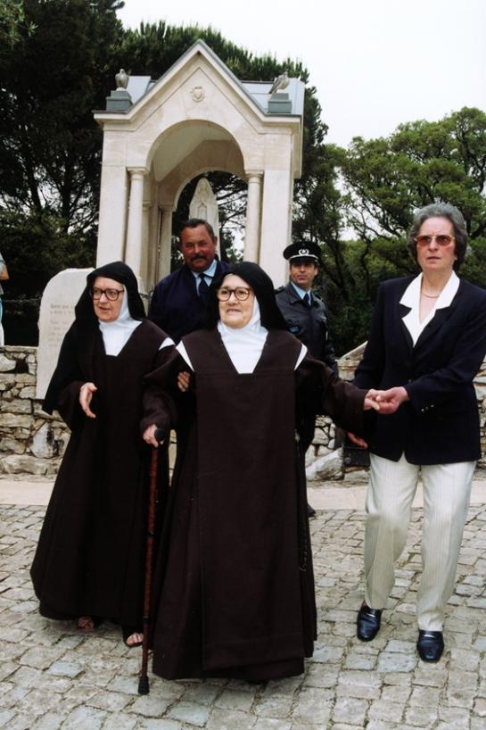 Irmã Lúcia nos Valinhos 16.5.2000