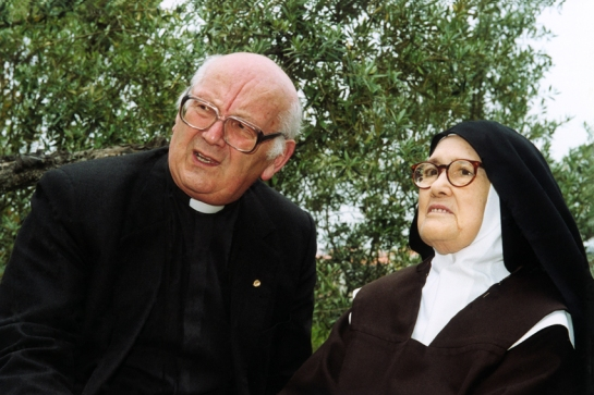 Padre Luís Kondor com a Irmã Lúcia 16.5.2000 2