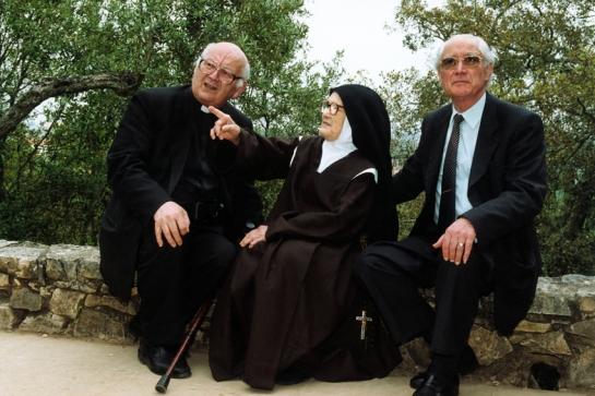 Padre Luís Kondor com a Irmã Lúcia