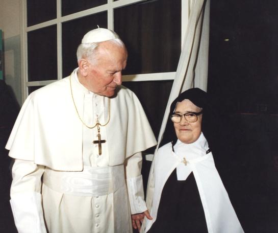 Papa João Paulo II ea Irmã Lúcia 13.5.1991 2