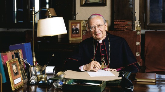 The prelature of Opus Dei announced that Bishop Alvaro del Portillo, the successor to Opus Dei founder St. Jose Maria Escriva, will be beatified Sept. 27 in Madrid. He is pictured in an undated photo.(CNS photo/courtesy of Opus Dei Information Office) (Jan. 23, 2014) See ALVARO-BEATIFY Jan. 23, 2014.