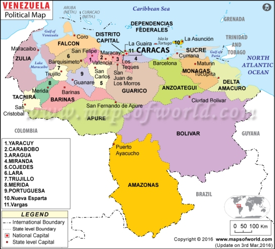 political-map-of-venezuela