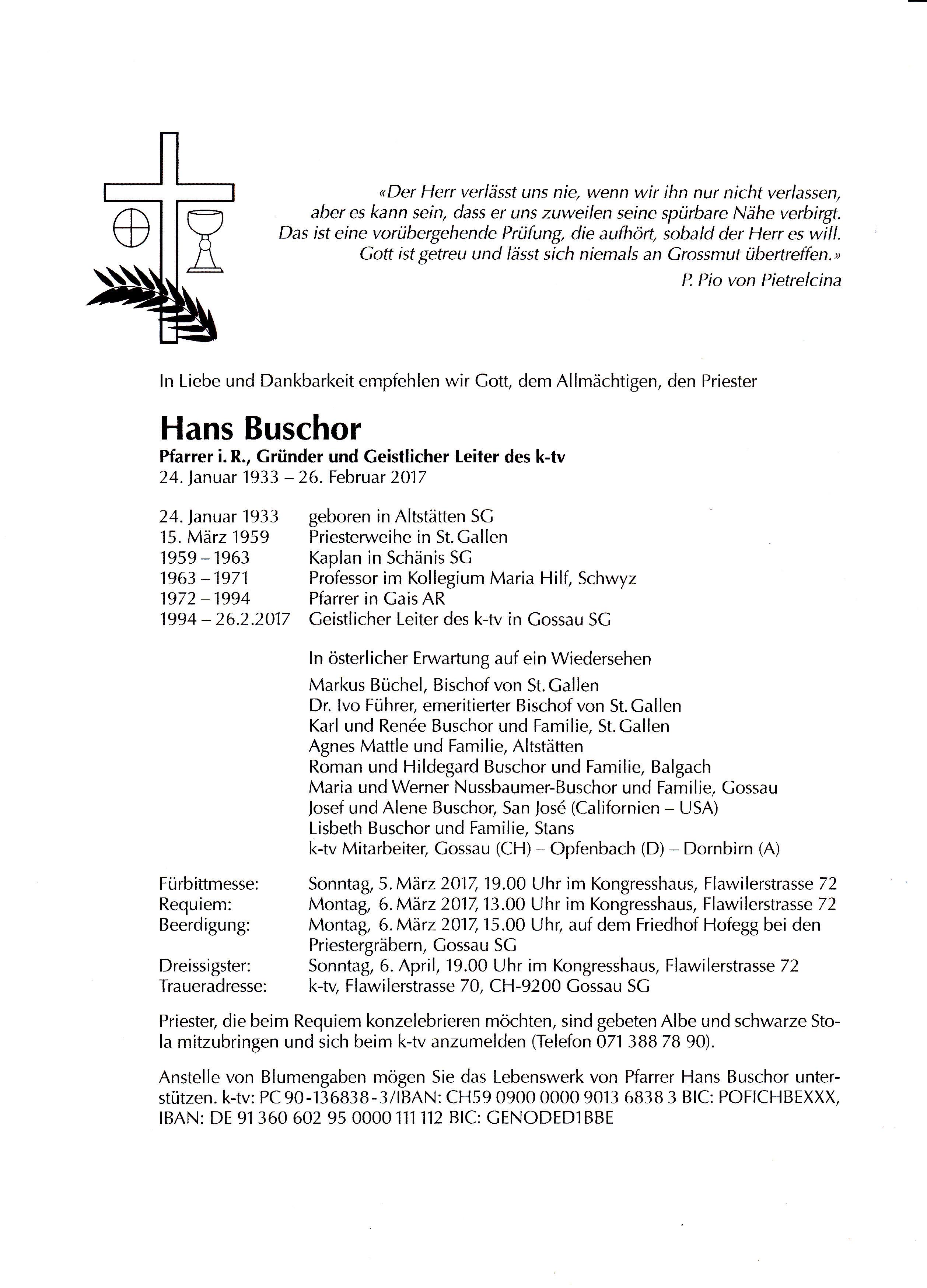 Pfarrer Hans Buschor