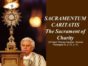 SACRAMENTUM+CARITATIS+The+Sacrament+of+Charity+(Cf